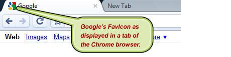 Google's favicon example