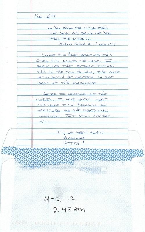 Hosanna's Final Letter, 04-02-2012